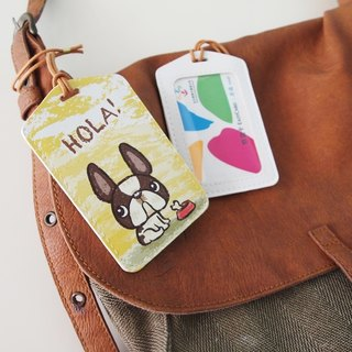 Multi-function card holder key ring-Hola!