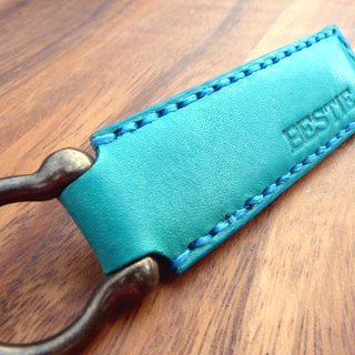 Hand-stitched vegetal yak leather key ring (free English name) (with leisure chip card)