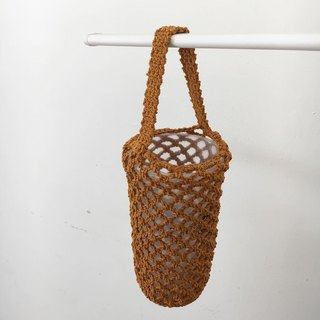 Bottled woven mesh bag, orange