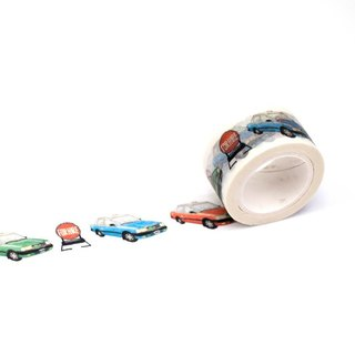 Hong Kong Masking Tape - Hong Kong Series - Hong Kong Taxi Red Green Blue