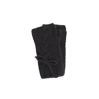 Black Virgin Wool Fingerless