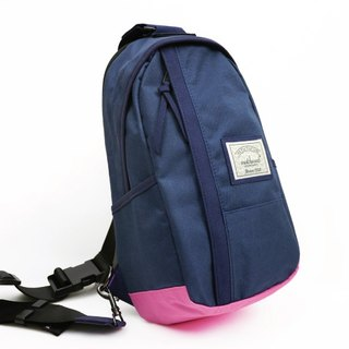 Matchwood Design Matchwood Hunter Shoulder Bag Shoulder Bag Backpack Shoulder Bag Backpack Navy Blue Pink