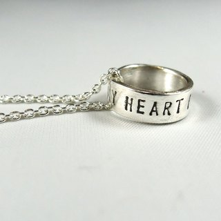 Mini Rings Simple Silver Necklace - declaration of love / clavicle chain / Christmas / Gifts / Valentine's Day / Memorial Day