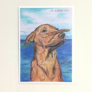 Rangers Lanyu country - [charity] Lanyu puppy picture postcards