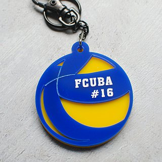 Volleyball keychain customized / engraved name / anniversary / graduation gift
