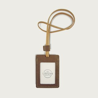 Leather ID Card Holder/Card Holder - Brown