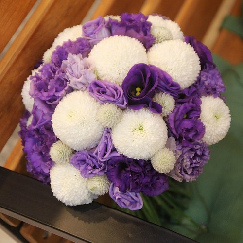 Man flowers - Zibai color bridal bouquets customized wedding bouquet of flowers bouquet Continental