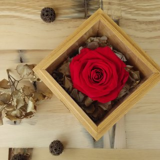 "[. Original wood _ Limited] "" eternal love "" Rose Box"