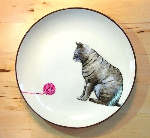 Wall-mounted decorative plate / dessert plate series-喵喵毛球控