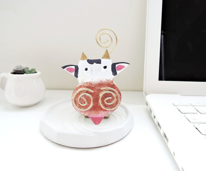 Warm companion ♥ fooled dairy cow clip clip animal paper healing