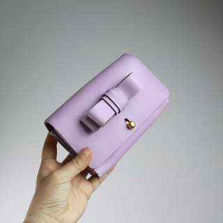 Zemoneni leather purse Wallet all purpose for coin card and money notes in Light Purple color