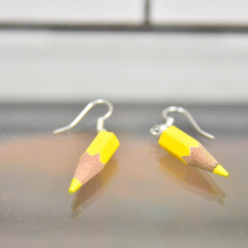 Recycle Colored Pencil Earrings_Fair Trade