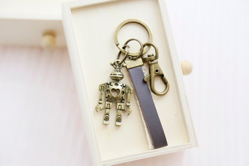 Graduation gift alien robot strap / key ring