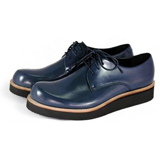 Hazel M1126 Midnight Blue leather sneakers