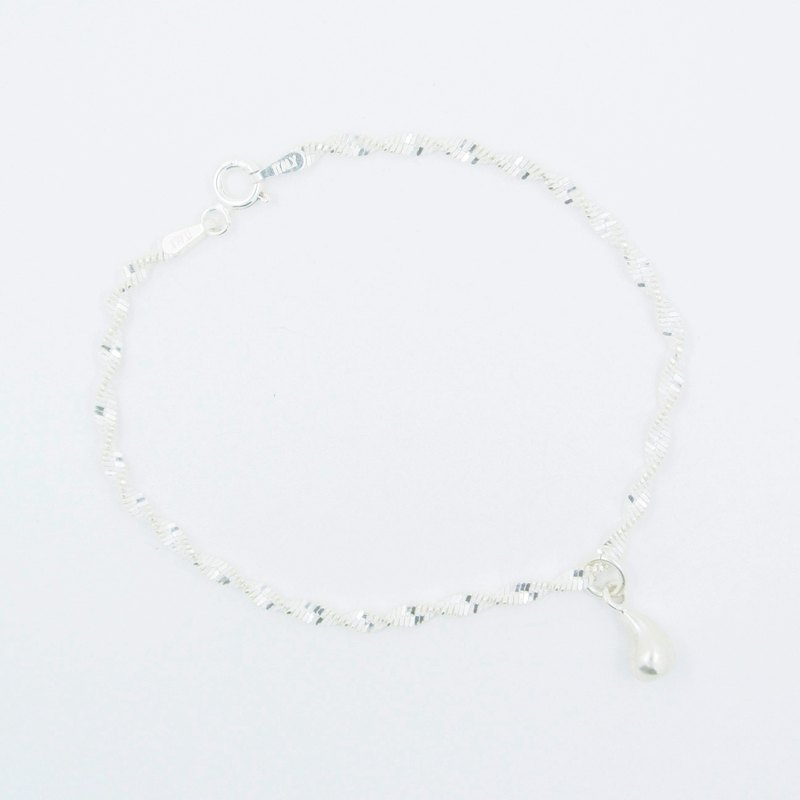 [Christmas (exchange gifts)] fine water long-flow sterling silver bracelet