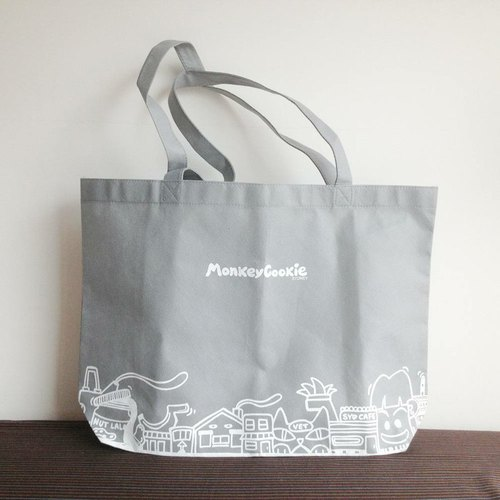 Shopping Bag LOHAS Series (light gray) comes with a badge
