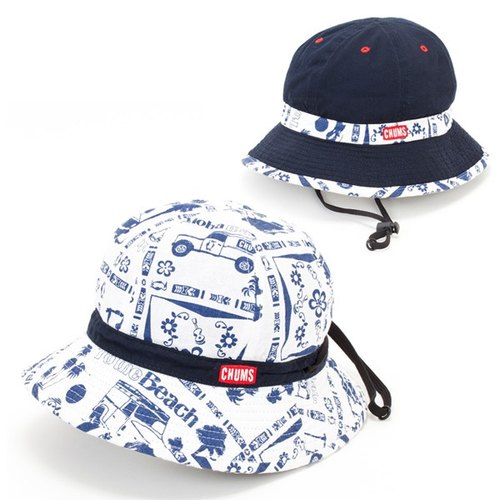 CHUMS duplex style hat dark blue / Hawaii