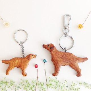 [Handmade wooden x dog series] * Golden Retriever key ring / strap