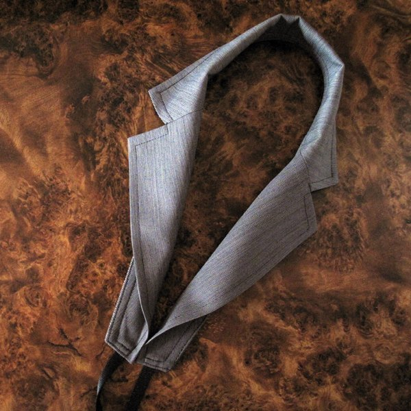 Suit collar shape Strap (Grey)