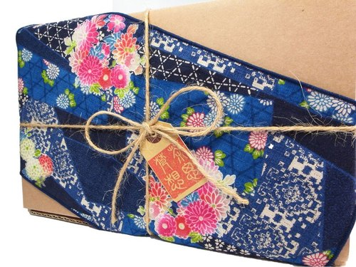 Taiwan Traditional Eco-Friendly Tea Gift Wrap (Blue) for 150g tea