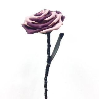 Inter leather purple pink roses