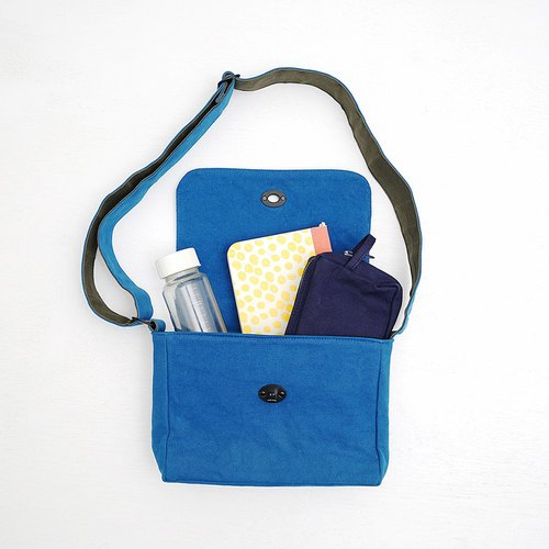 Mushroom MOGU/Canvas Messenger Bag/May Cobalt Blue