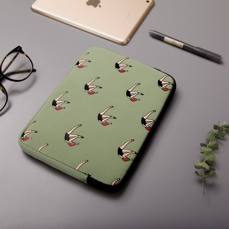 YIZISTORE Tablet PC package ipad mini bag - green fall girl