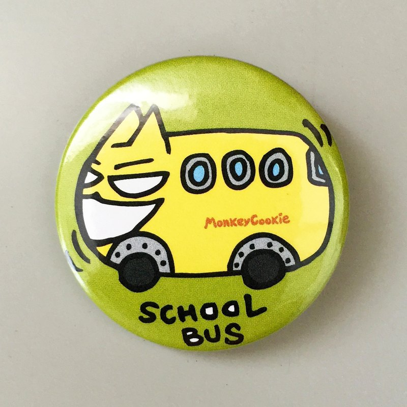 Badge Cat Bus