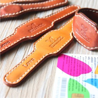 [Butterfly] hand-made leather bracelet, with your travel card function (free branding service).