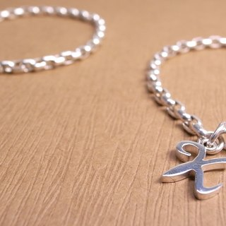 """Ermao Silver"" English words made silver bracelets"