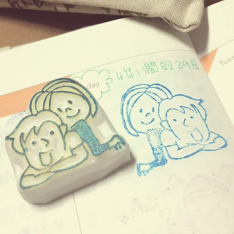 [Manual] rubber stamp seal Couple