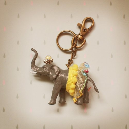 Gorgeous Adventure - Elephant Key Ring (without handmade box)