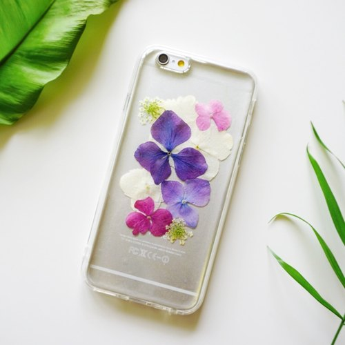 Pressed Flowers Phone Cases - Colourful Hydrangea Collection for iphone 5/5s/SE/6/6s/6 plus/6s plus/7/7plus/Samsung S4/S5/S6/S6Edge/S7/S7Edge/Note3/Note4/Note5