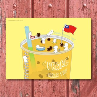 Jiang Tong ‧ Taiwan still good sipping series Postcards - pearl milk tea