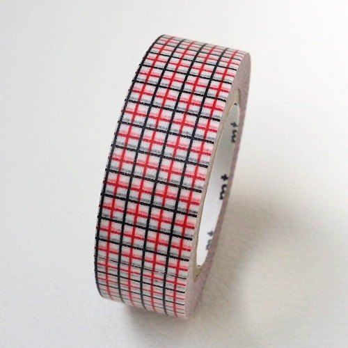 mt and paper tape Deco [square - Red x Black (MT01D328)] 2016SS