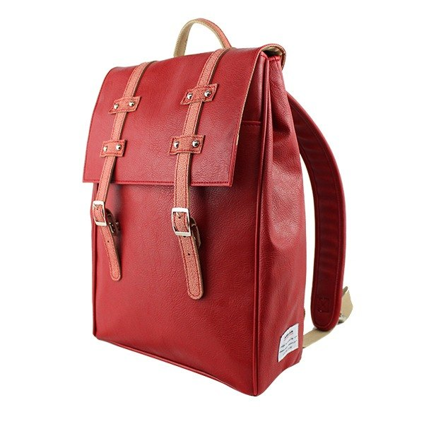 AMINAH-Red Wenqing Backpack [am-0278]