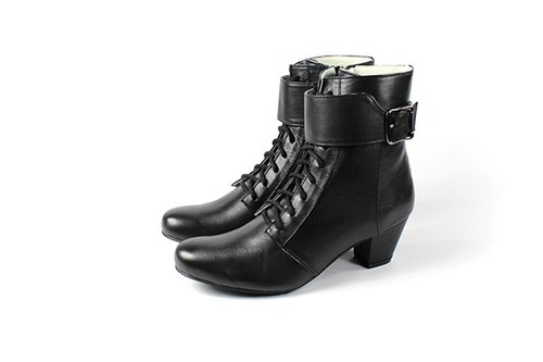 │ whims black boots straps