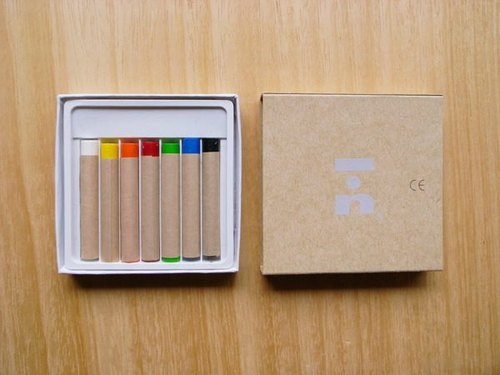 [IAN - Pure Plan] 7 color crayon painted cloth Stationery