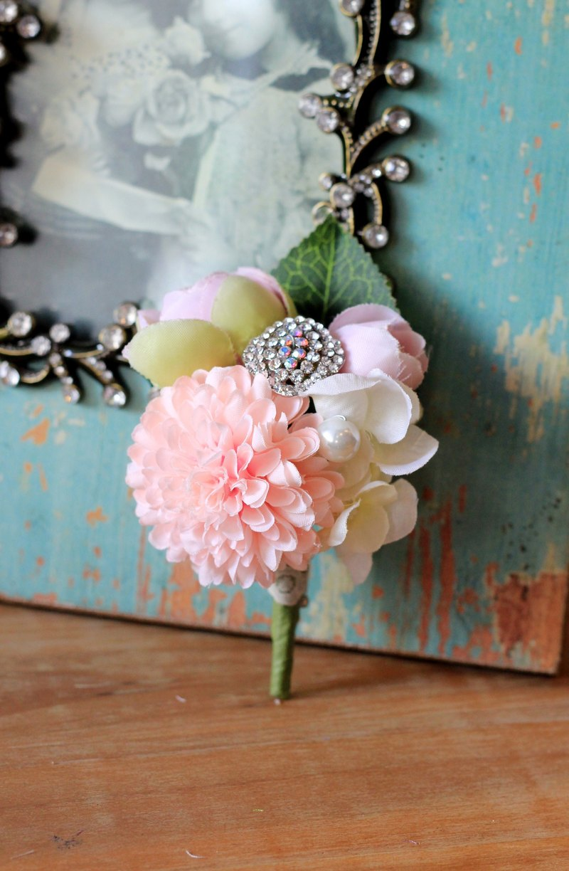 Handmade flower brooch simulation [series] cute little ball Ju (powder)