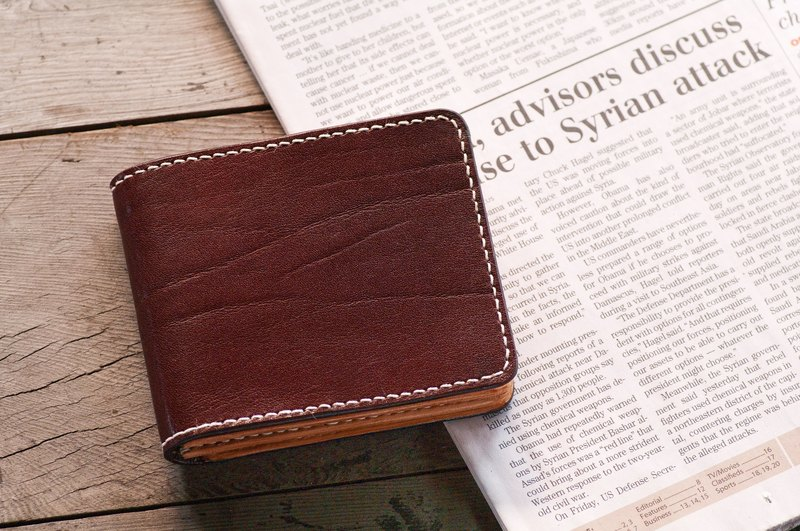 Italian Leather Shoulder Wallet / Handmade
