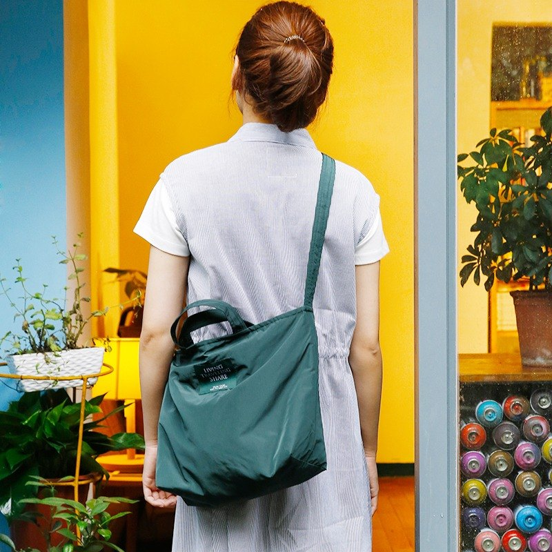 ntmy. Memory Fabric urban exploration bag messenger bag shoulder bag backpack oblique dark green
