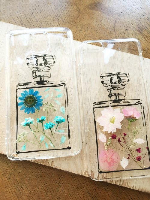 Perfume bottles pressedflower Phone Case