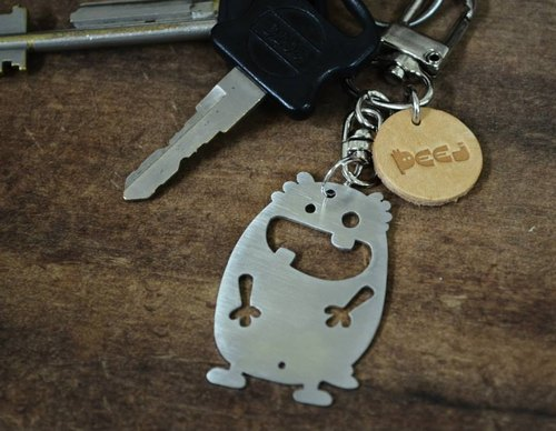 【Peej】'Happy Every Day' Stainless Steel Keychain Valentine's Day