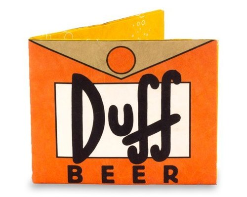 Mighty Wallet® paper wallet _ Simpsons Duff