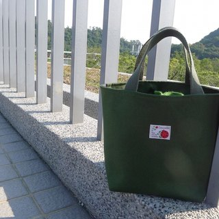 | • R • | Palette Tote / Pouch / Universal Bags | Beam Type | Japan Ladybug Cloth Label | Green