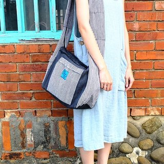 【Grooving the beats】Handmade Hand Woven Cross Body Bag / Hippie Bag / Hobo Bag / Boho Bag / Shoulder Bag (Stripe)