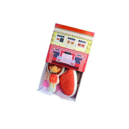 Png Kueh Girl Shophouse DIY Set 饭粿女孩手工DIY店屋套装