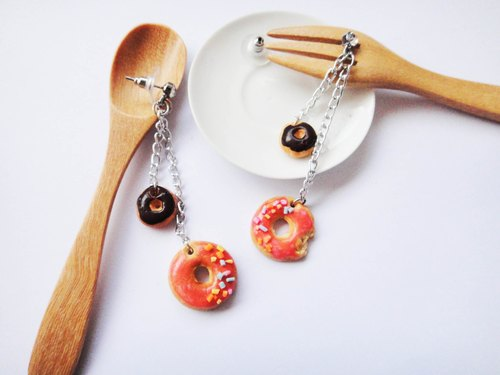 Drape donut earrings