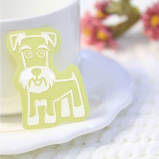 [Reflective pet stickers] schnauzer. Adorable dog .3M reflective stickers. Dog design sticker waterproof scratch .NINKYPUP