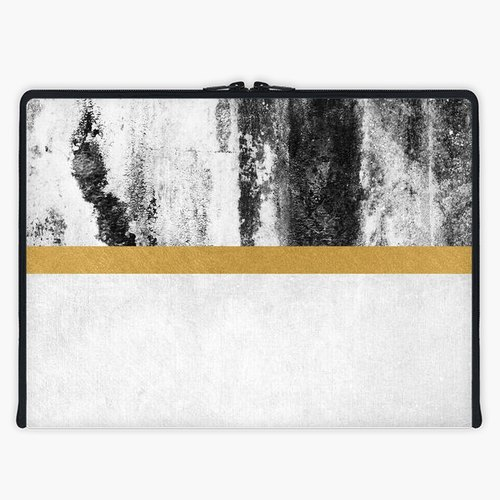 Axis - Custom 3-Sided Zipper Laptop Sleeve - Gold Line